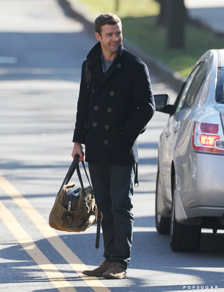 Justin Timberlake kept warm in a peacoat on the New Jersey set of Runner, Runner today. He was spotted shooting solo this morning in the town of Princeton, but spent part of June and July shooting in Puerto Rico with his costar Ben Affleck. He did take a break from work in October to marry Jessica Biel, his girlfriend of several years.  Justin and Jessica tied the knot in Italy and spent some of their honeymoon in Africa, but once they came back to the States, Jessica headed right back to work. Her films Hitchcock and Playing For Keeps both hit theaters this month. Justin and Jessica were just one of many famous pairs to make things official in 2012 — check out our look back at the best celebrity weddings of 2012!