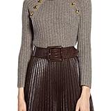 Halogen® x Atlantic-Pacific Button Detail Turtleneck Sweater