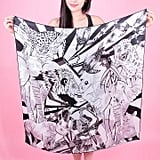 K&K Labs Black and White Silk Scarf