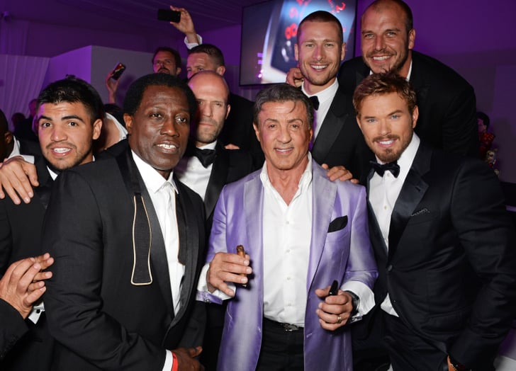 the guys of the expendables 3 parties together at gotha night club on celebrities at the. Black Bedroom Furniture Sets. Home Design Ideas