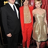 Michelle Williams, Julia Ormond, and Simon Curtis had a moment together before the My Week With Marilyn screening at AFI Fest.