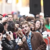 Robert Pattinson had a crowd of adoring fans at The Today Show.