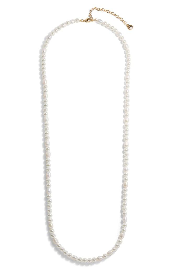 BaubleBar Long Freshwater & Imitation Pearl Necklace