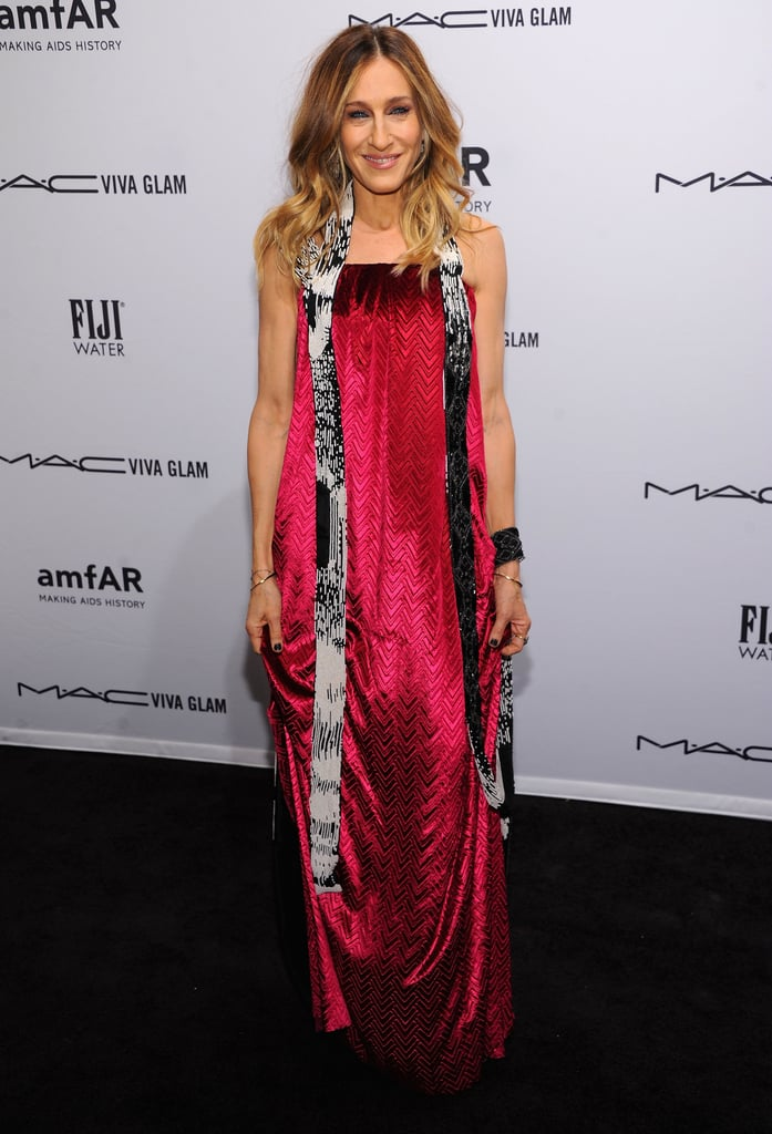 Sarah Jessica Parker wore a stunning pink gown from Maison Martin Margiela's Spring 2013 collection.