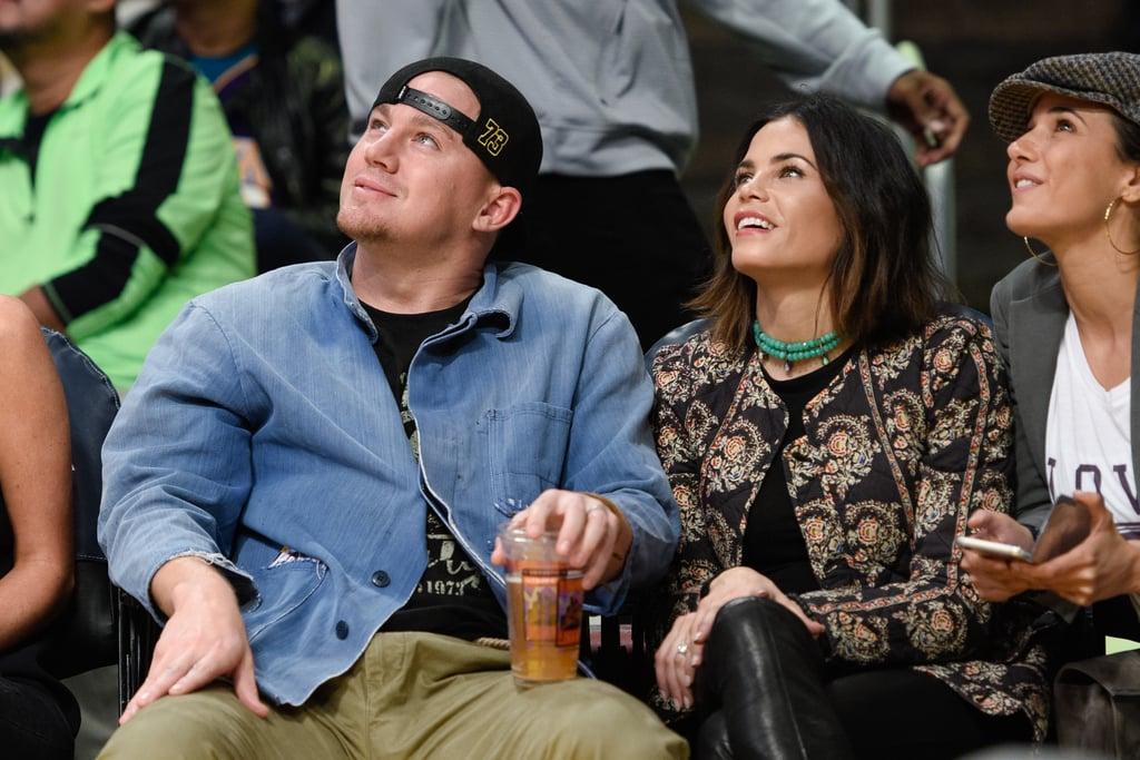Channing Tatum and Jenna Dewan Kiss at Lakers Game 2015   POPSUGAR ...