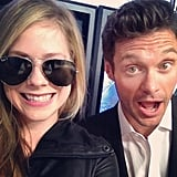 Ryan Seacrest said he left his aviators at home while posing with a sunglass-clad Avril Lavigne. Source: Instagram user ryanseacrest