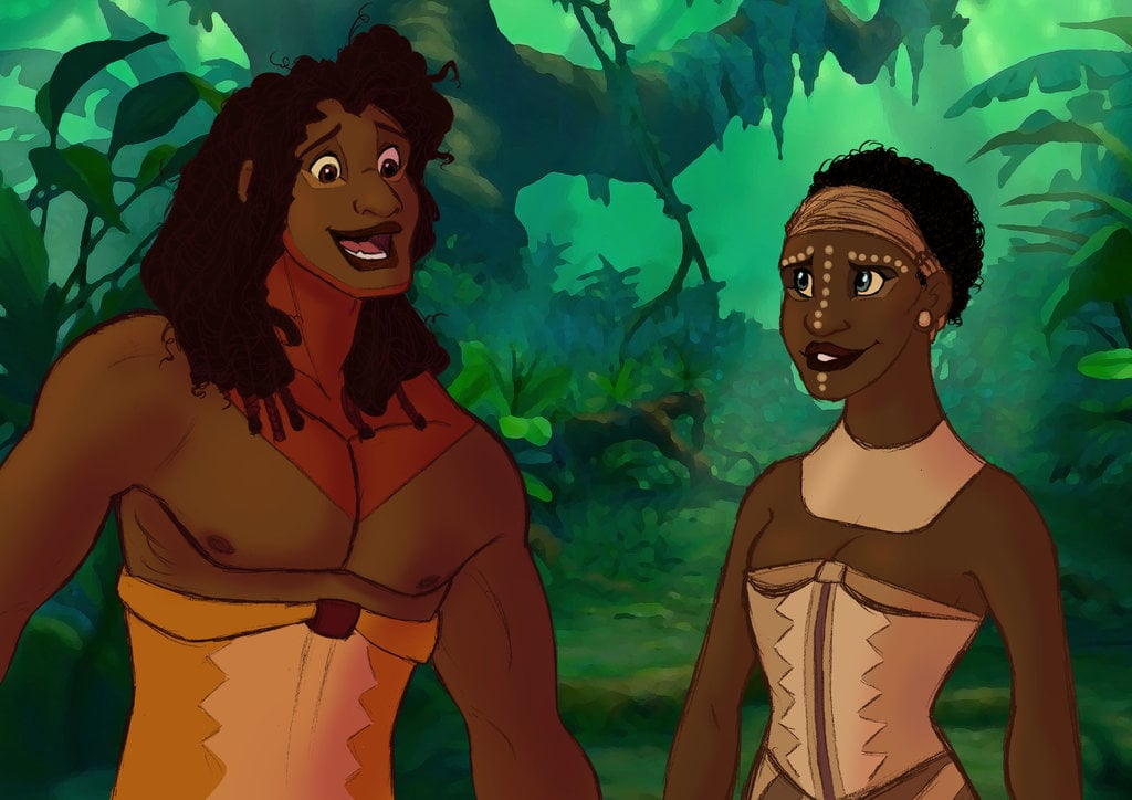 the lion king humanized disney characters as humans in art