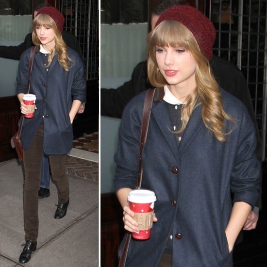 68706c1db51 Taylor Swift Wearing Red Beanie