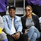 Jay Z Scores Beyoncé's Heart During Their Courtside Appearance