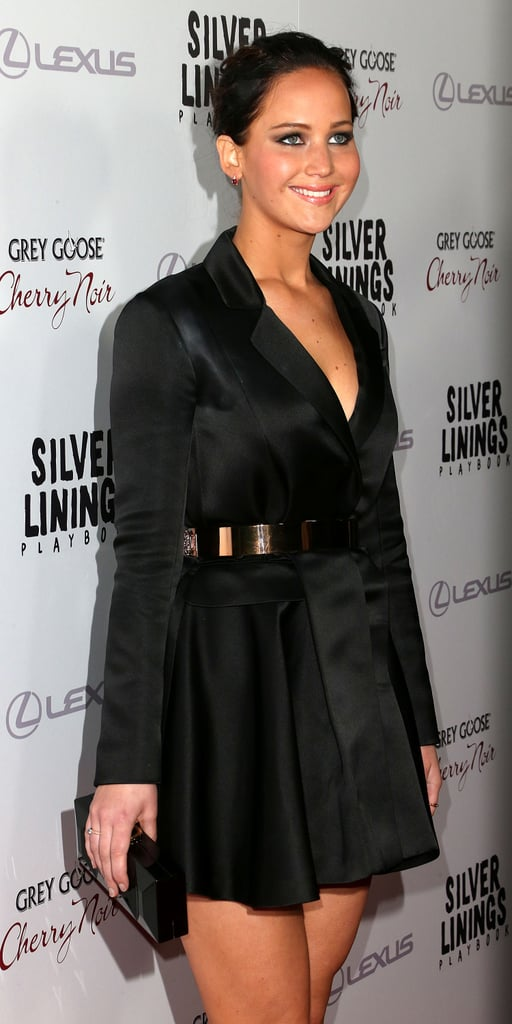 Jennifer Lawrence had a smile on her face at  the Silver Linings Playbook LA premiere.