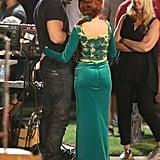 Joe Manganiello visited Sofia (Gloria) on set.