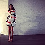 Raoul set their bold designs against a white brick backdrop at the label's Spring presentation. Source: Instagram user raoulfashion