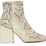 Mercedes Castillo Snake Print Block Heel Booties
