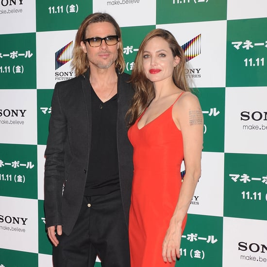 Brad Pitt Angelina Jolie Pictures at Tokyo Moneyball Premiere