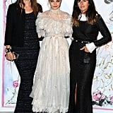 Cara Delevingne was nothing short of frilly in a feathery gown at an event in Monte Carlo in Monaco.