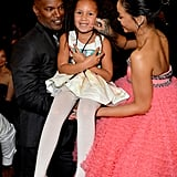 Annalise Bishop joined her dad, Jamie Foxx, at the Grammys, and she managed to snag pictures with everyone from Jay Z to Rihanna to Madonna.