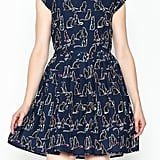 Fashion Pickle Cat Print Dress
