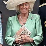 Camilla in a trusty Philip Treacy for Trooping the Colour 2015.