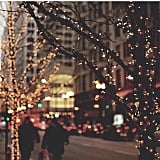 Go for a stroll and admire all the beautiful Christmas lights