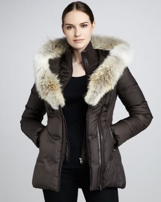 Play the part of the glam snow bunny in this Mackage Adali Fur-Trimmed Puffer Coat ($640) — equal parts fashion and function.