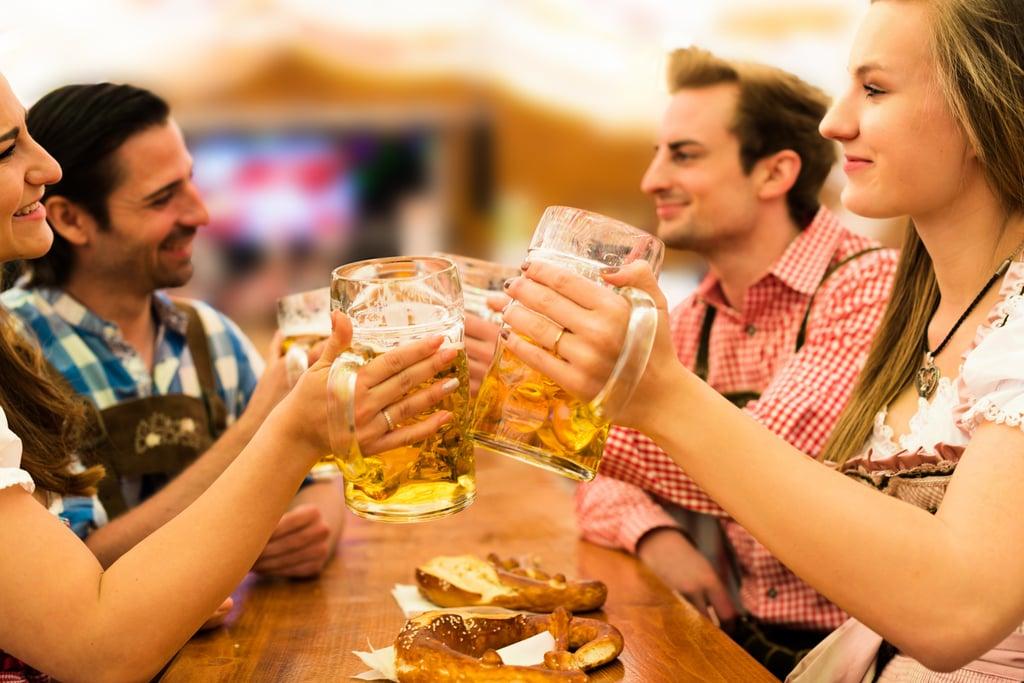 Drink Beer at Oktoberfest in Germany