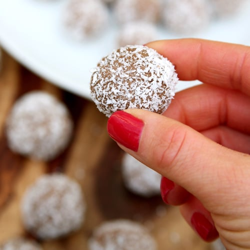 Chocolate Almond Coconut Protein Balls