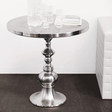 Turned Metal Pedestal Table ($349)