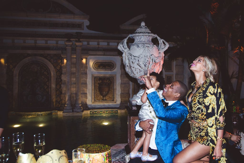Beyonce and Jay Z With Blue Ivy Carter on New Year's Eve