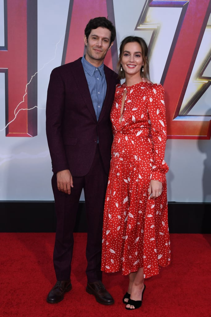 Adam Brody and Leighton Meester at Shazam! Premiere 2019