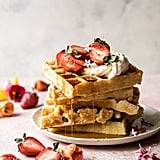 Overnight Waffles With Lemon Cream and Strawberries