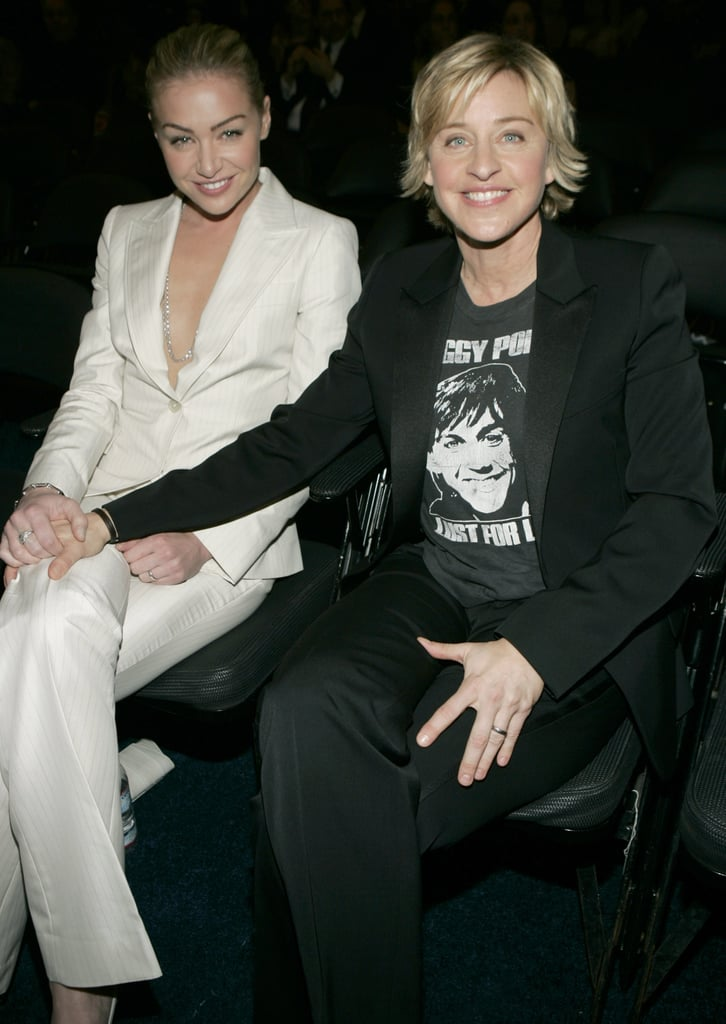 Portia and Ellen sat side by side at the February 2005 Grammys.