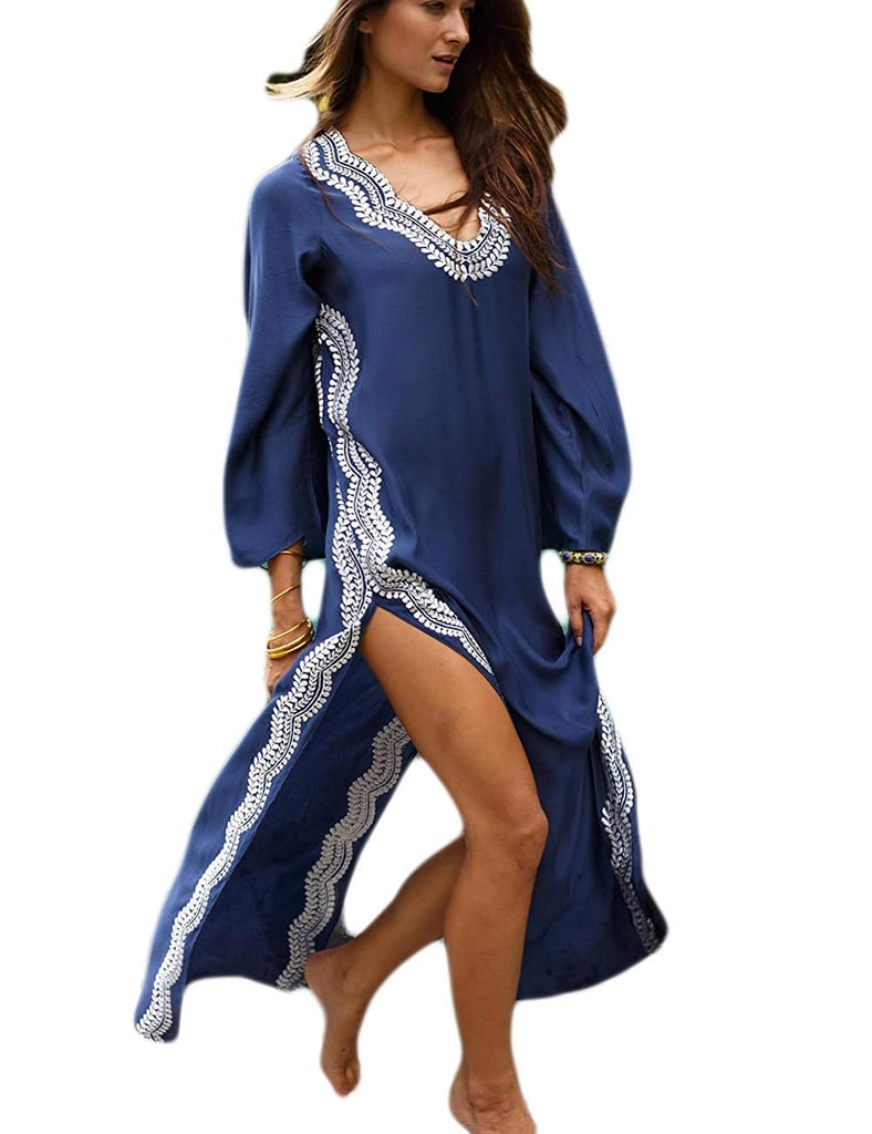 Bsubseach Navy Embroidery Long Sleeve Swimsuit Cover Up For Women Best Coverups For Moms Popsugar Uk Parenting Photo 12