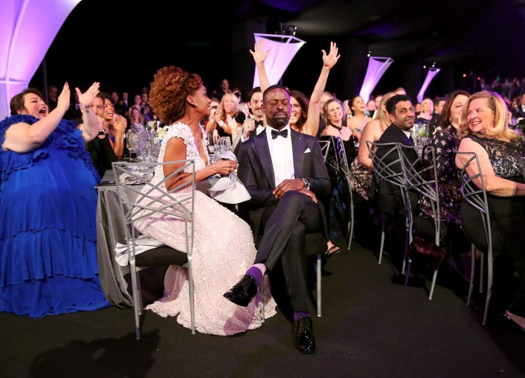 Sterling K. Brown and Ryan Michelle Bathe at 2018 SAG Awards