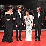 Liv Tyler, James Gray, Ruth Negga, and Brad Pitt at the Ad Astra Premiere