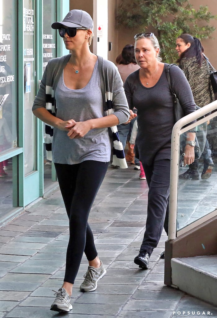 Charlize and her mom followed Jackson.