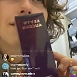 King Princess Holding the Kevyn Aucoin Glass Glow Face Liquid Highlighter