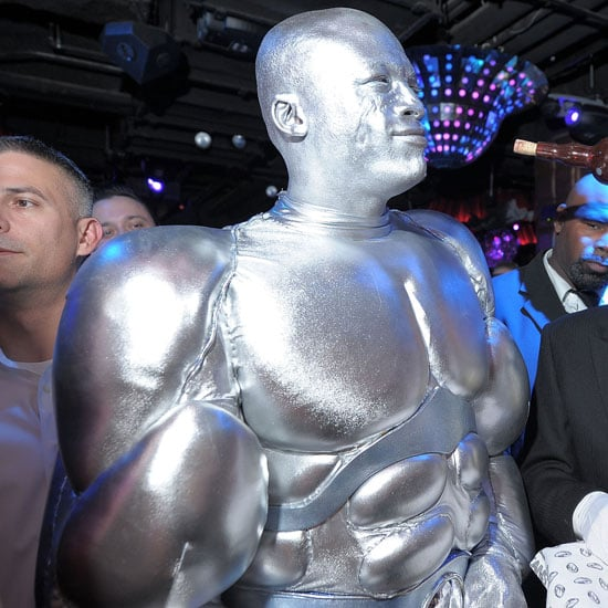 Seal went for a metallic look during 2010's holiday.