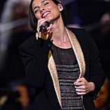 Alicia Keys belted it out on stage at the benefit concert honoring Carole King.