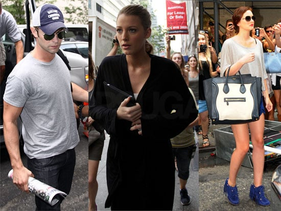 Pictures of Gossip Girl Cast on Set