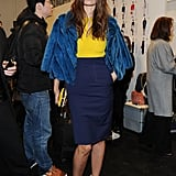 Caroline de Maigret at the Fendi Fall 2013 show in Milan.