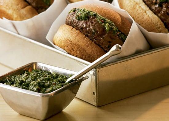 South Beach Diet Chimichurri Burgers