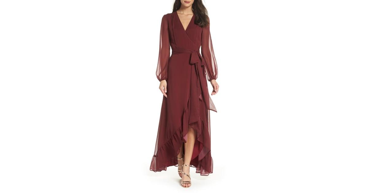bb5941ad611a Wayf Meryl Long Sleeve Wrap Maxi Dress | Fall Wrap Dresses 2018 | POPSUGAR  Fashion Photo 6