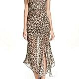 NICHOLAS Leopard Print Silk Midi Dress