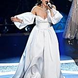 أداء النجمة إيدينا مينزيل خلال حفل جوائز الأوسكار 2020
