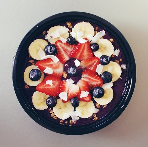 Since acai is full of amino and fatty acids, enjoy a bowl after a morning workout to maximize muscle regeneration.