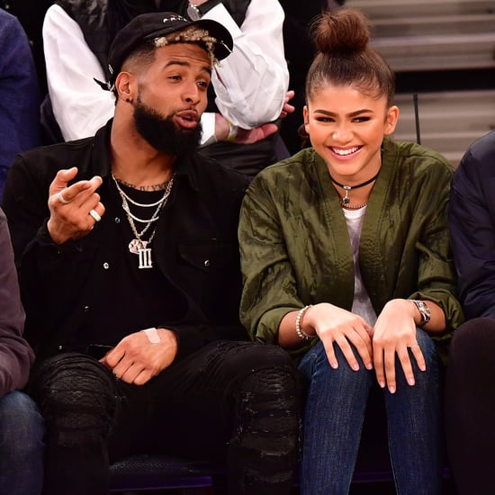 Zendaya and Odell Beckham Jr. at Knicks Game November 2016