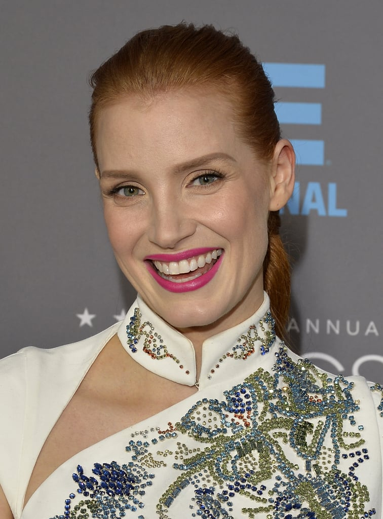 See Every Angle of Jessica Chastain's Epic Tiered Plait