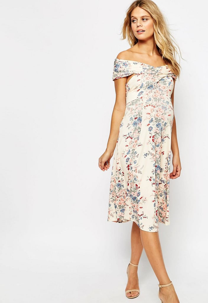 Ordinaire ASOS Twist Shoulder Midi Dress ($57)