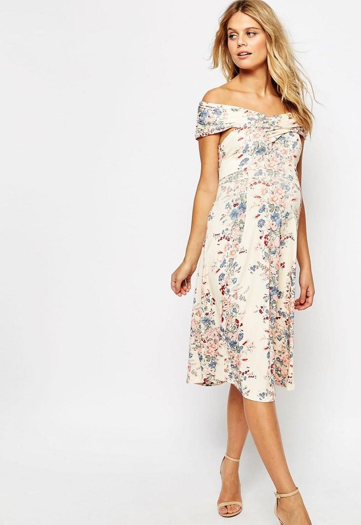 ASOS Twist Shoulder Midi Dress 57 Maternity Dresses For Wedding