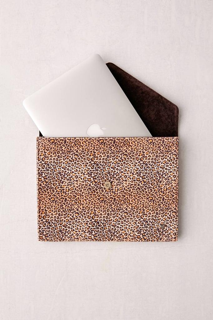 """Wildflower Leopard 13"""" Laptop Clutch Case"""